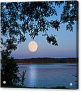 Blue Moon Of August  Acrylic Print