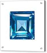 Blue Sapphire Isolated Acrylic Print