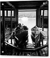 Boathouse At Maligne Lake Acrylic Print