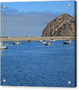 Boats And Blue Water Acrylic Print