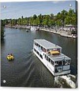 Boats On River Dee Acrylic Print