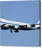 Boeing Vc-25a 82-8000 Air Force One Phoenix-mesa Gateway Airport January 25 2012 Acrylic Print