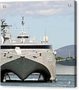 Bow On View Of The Us Navy Experimental Acrylic Print