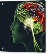 Brain Food, Conceptual Image Acrylic Print