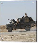 British Soldiers Patrol Afghanistan Acrylic Print
