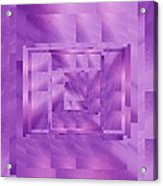 Brushed Purple Violet 11 Acrylic Print