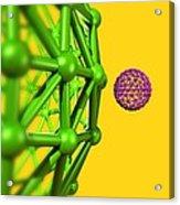 Buckyball Molecules, Artwork Acrylic Print