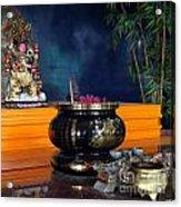 Buddhist Altar Acrylic Print by Yali Shi