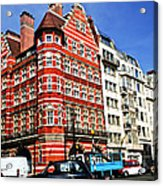 Busy Street Corner In London Acrylic Print by Elena Elisseeva