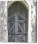 Caerphilly Castle Gate Acrylic Print