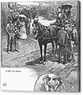 Canada: Church, 1883 Acrylic Print