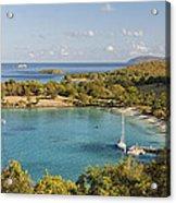 Caneel Bay Panorama Acrylic Print