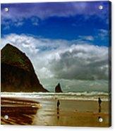 Cannon Beach At Dusk Acrylic Print
