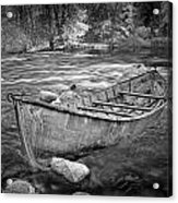 Canoe On The Thornapple River Acrylic Print