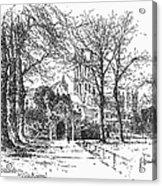 Canterbury Cathedral Acrylic Print