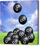 Carbon Dioxide And Climate Change Acrylic Print