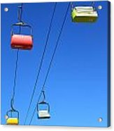 Chairlift Cars Acrylic Print