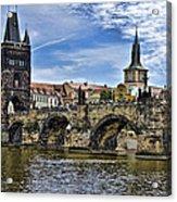 Charles Bridge - Prague Acrylic Print