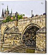Charles Bridge And Prague Castle Acrylic Print