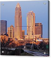 Charlotte Skyline At Sunrise Acrylic Print
