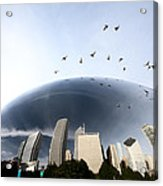 Chicago Cityscape The Bean Acrylic Print