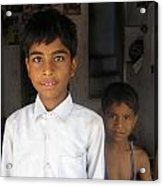 Children Of India Acrylic Print