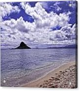 Chinaman S Hat From Kualoa Acrylic Print