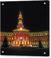 Christmas Lights In Denver Acrylic Print