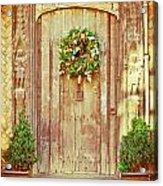 Christmas Wreath Acrylic Print by Tom Gowanlock