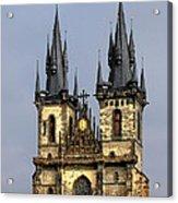 Church Of Our Lady Before Tyn - Prague Cz Acrylic Print by Christine Till