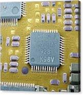 Circuit Board Microchip, Sem Acrylic Print