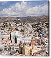 City Of Guanajuato From The Pipila Overlook At Dusk Acrylic Print
