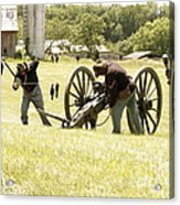 Civil War Reenactment Acrylic Print