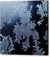 Close Up Of Ice Crystals Acrylic Print