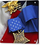 Close-up Of The Medal Of Honor Award Acrylic Print