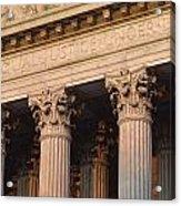 Closeup Of The U.s. Supreme Court Acrylic Print