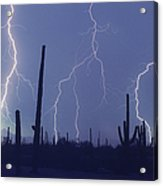 Cloud To Ground Lightning Acrylic Print