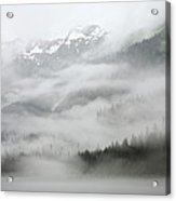 Clouds And Mist Over Forest, Admiralty Acrylic Print