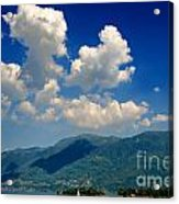 Clouds And Mountain Acrylic Print