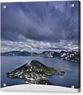 Clouds Over Crater Lake Acrylic Print