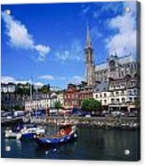 Cobh Cathedral & Harbour, Co Cork Acrylic Print