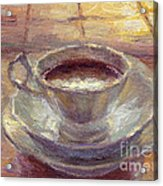 Coffee Cup Still Life Painting Acrylic Print