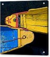 Colorful Boats, Srinagar, Dal Lake Acrylic Print