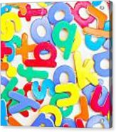 Colorful Letters Acrylic Print