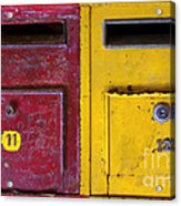 Colorful Mailboxes Acrylic Print