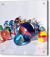 Colorful Marbles Acrylic Print