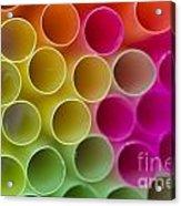 Colorful Straws Acrylic Print
