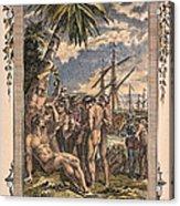 Columbus: Native Americans Acrylic Print