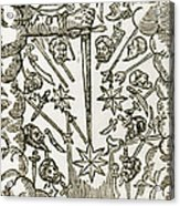 Comet, 1665 Acrylic Print