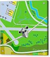 Commercial Jet Plane Acrylic Print by Aloysius Patrimonio